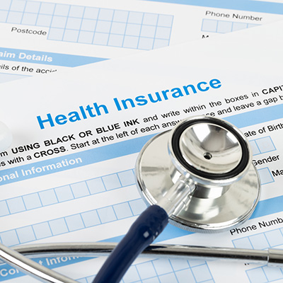 Health Insurance with stethescope