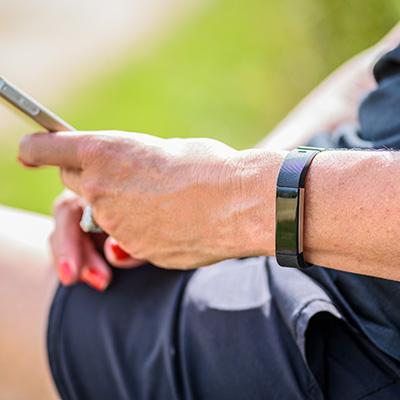 Woman Wearing Fitbit